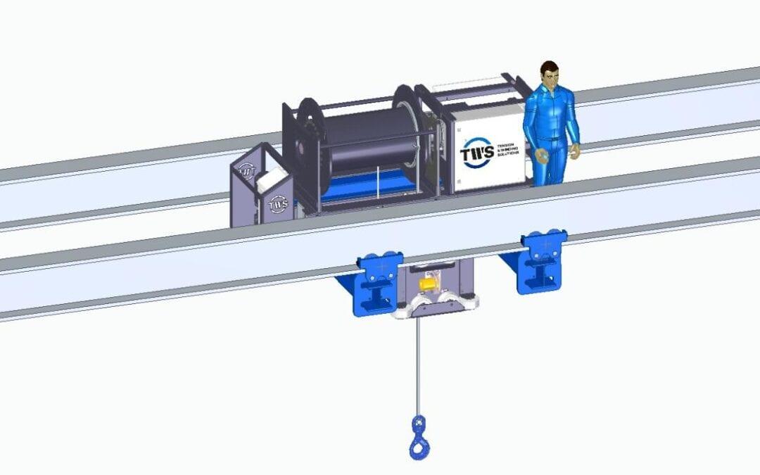 Loopkatsysteem met enkele draad WLL 15ton